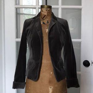 JCrew slate grey velvet blazer (Sz 4)